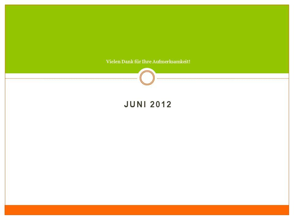 JUNI 2012 Vielen Dank für Ihre Aufmerksamkeit!