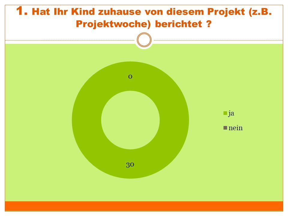 """2.Die Themen des Projektes sind """"Recycling und erneuerbare Energien ."""