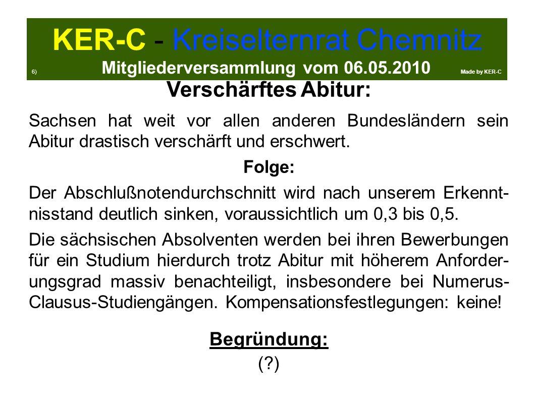 Verschärftes Abitur: Sachsen hat weit vor allen anderen Bundesländern sein Abitur drastisch verschärft und erschwert.