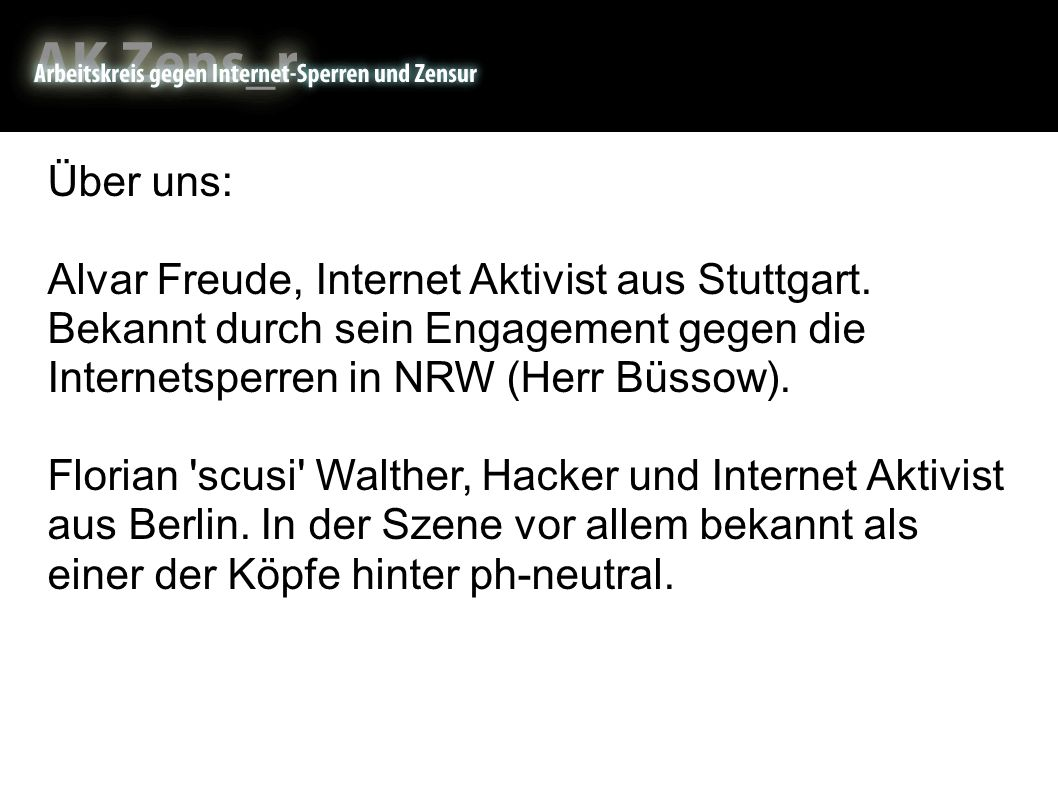 About us Über uns: Alvar Freude, Internet Aktivist aus Stuttgart.