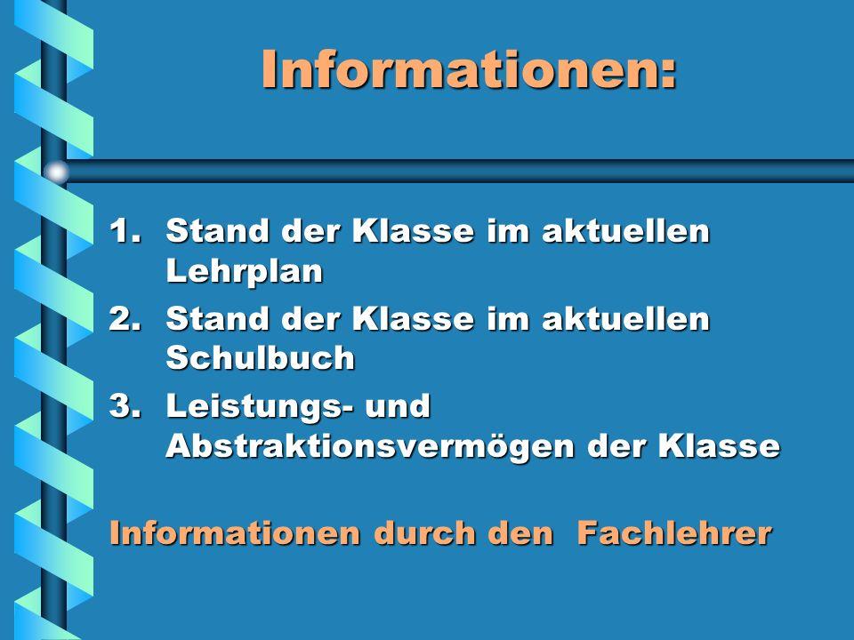 Thema und Lerninhalte Was brauche ich? Literatur:Was brauche ich? Literatur: 1)Aktuellen Lehrplan der Klasse (saarland-bildungsserver.de) 2)Lehrpläne