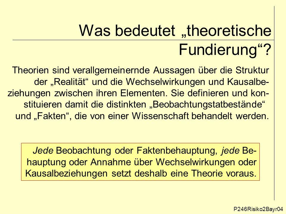 """Was bedeutet """"theoretische Fundierung ."""