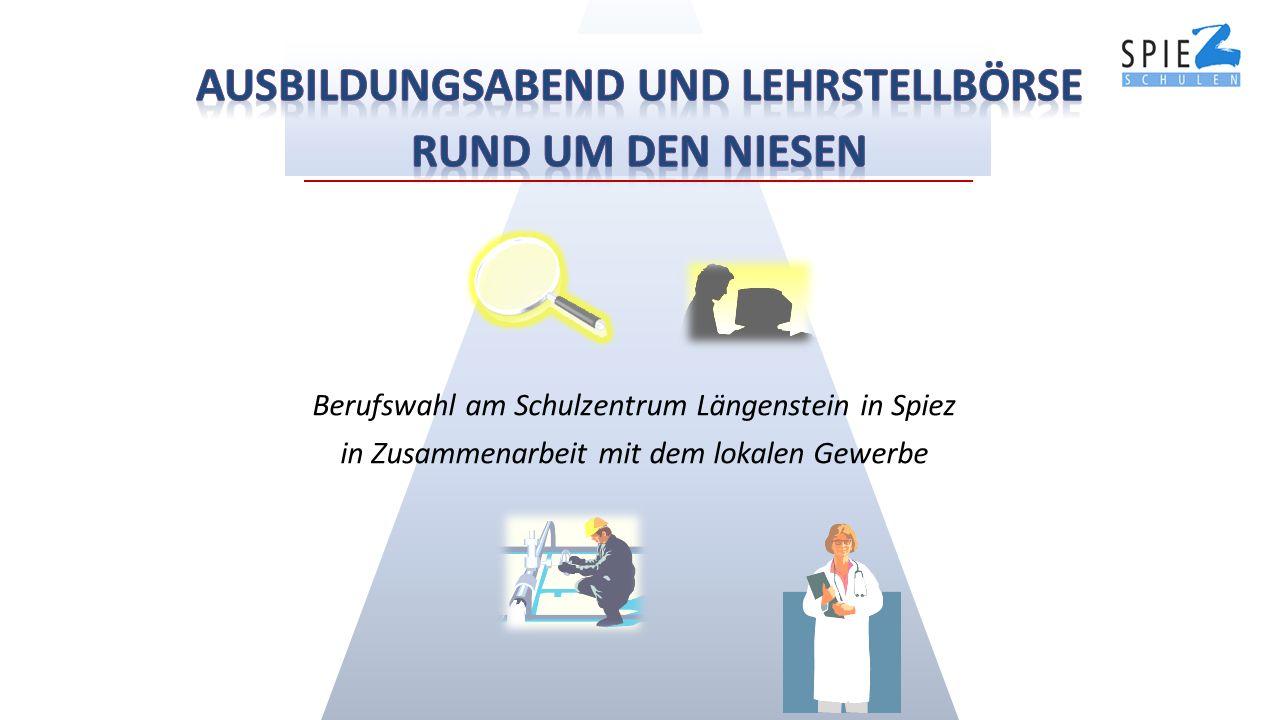 Berufswahl am Schulzentrum Längenstein in Spiez in Zusammenarbeit mit dem lokalen Gewerbe