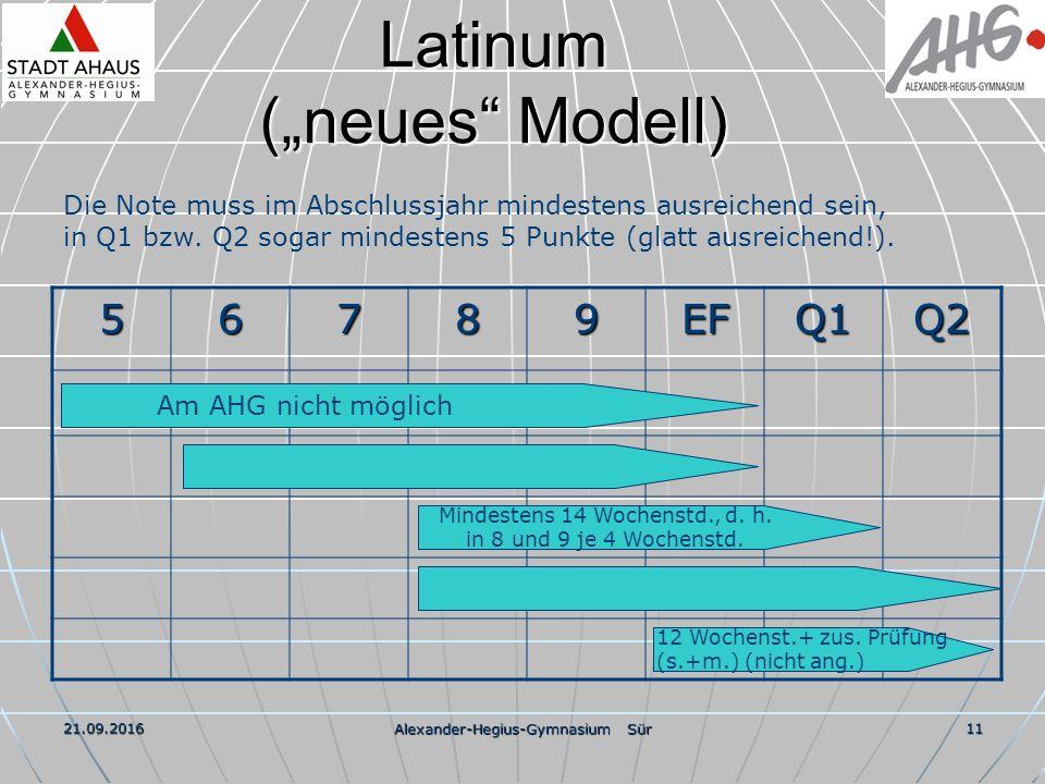 """21.09.2016 Alexander-Hegius-Gymnasium Sür 11 Latinum (""""neues Modell) 56789EFQ1Q2 Die Note muss im Abschlussjahr mindestens ausreichend sein, in Q1 bzw."""