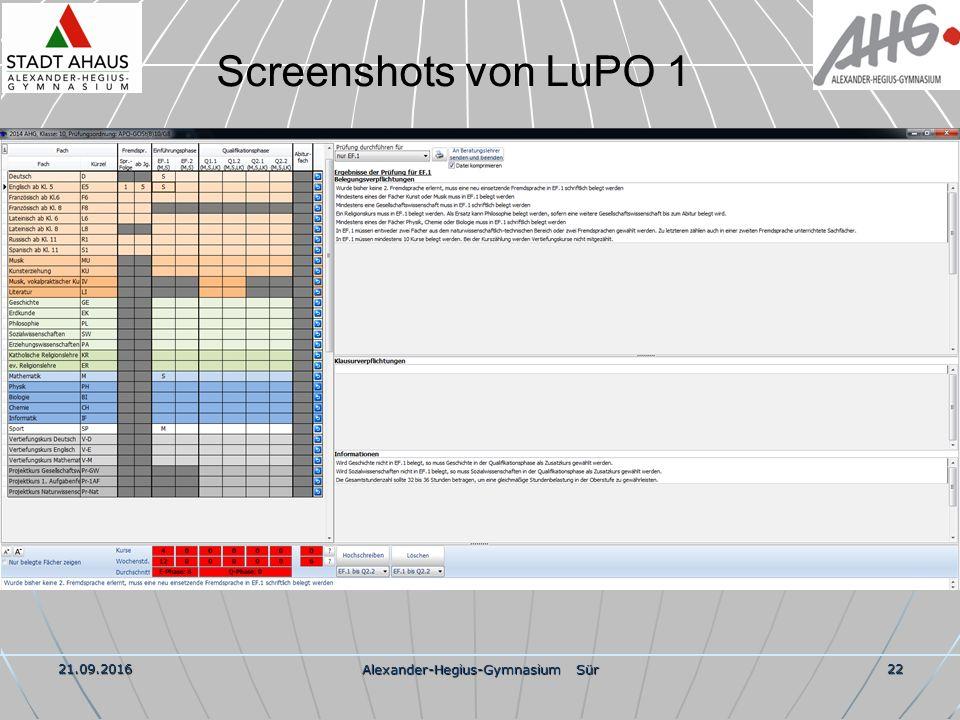 21.09.2016 Alexander-Hegius-Gymnasium Sür 22 Screenshots von LuPO 1
