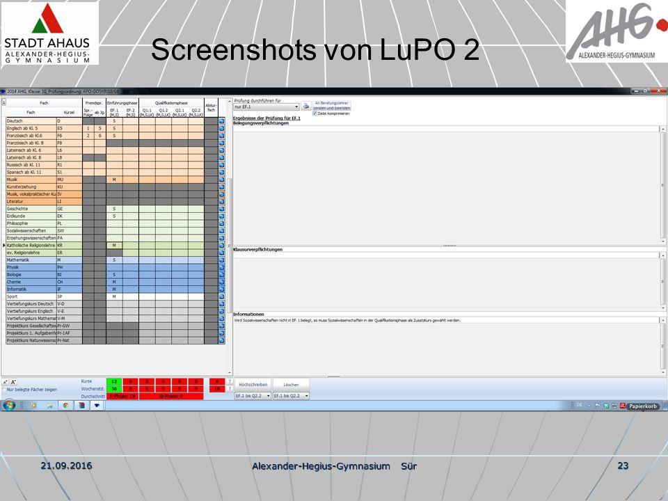 21.09.2016 Alexander-Hegius-Gymnasium Sür 23 Screenshots von LuPO 2