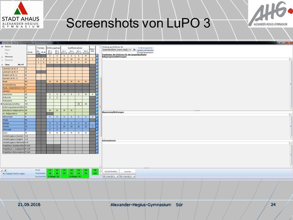 21.09.2016 Alexander-Hegius-Gymnasium Sür 24 Screenshots von LuPO 3