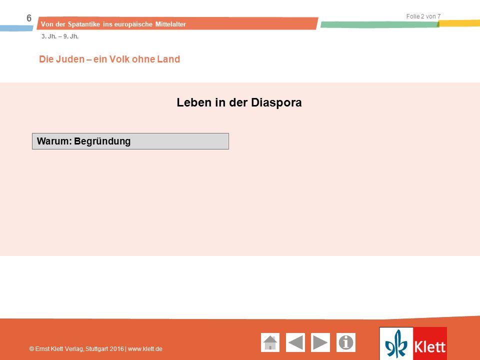 Geschichte und Geschehen Oberstufe Folie 2 von 7 Von der Spätantike ins europäische Mittelalter 6 3.