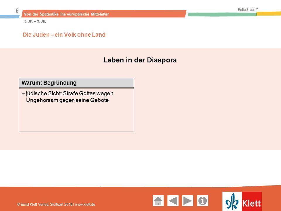 Geschichte und Geschehen Oberstufe Folie 3 von 7 Von der Spätantike ins europäische Mittelalter 6 3.