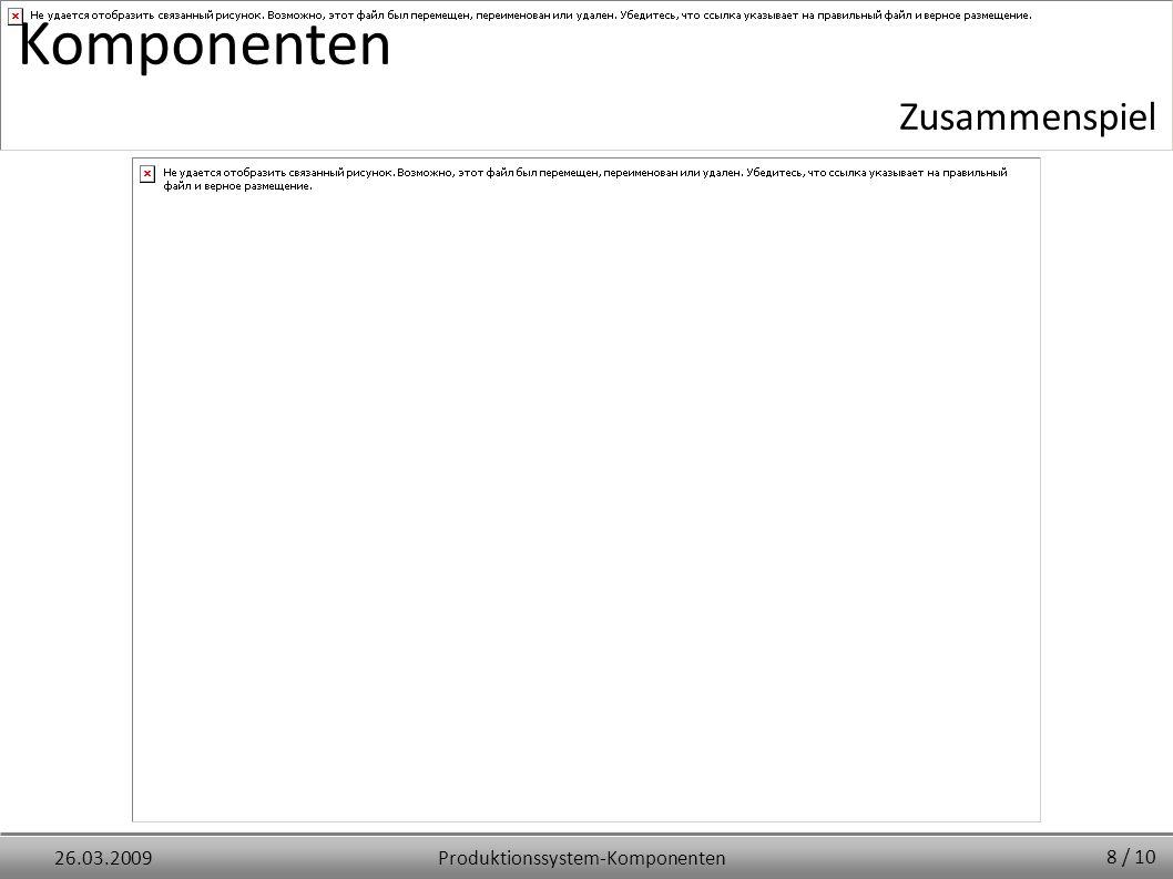Produktionssystem-Komponenten26.03.2009 Komponenten 8 / 10 Zusammenspiel