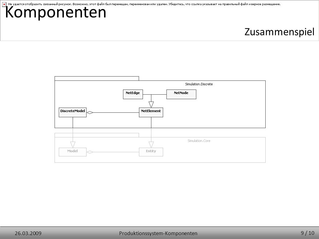 Produktionssystem-Komponenten26.03.2009 Komponenten Zusammenspiel 9 / 10