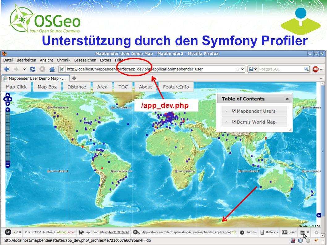 Mapbender3 – INTERGEO 2012 Hannover Uli Rothstein 11 / Unterstützung durch den Symfony Profiler /app_dev.php