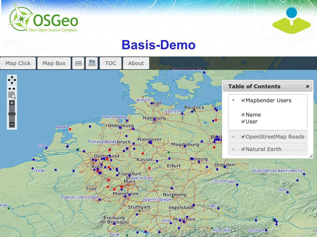 Mapbender3 – INTERGEO 2012 Hannover Uli Rothstein 13 / MapQuery MapQuery Version 0.1 wurde 2011 veröffentlicht Implemetiert eine jQuery Schnittstelle zu OpenLayers Mapping Widgets Mapbender3 nutzt MapQuery zur Interaktion mit OpenLayers