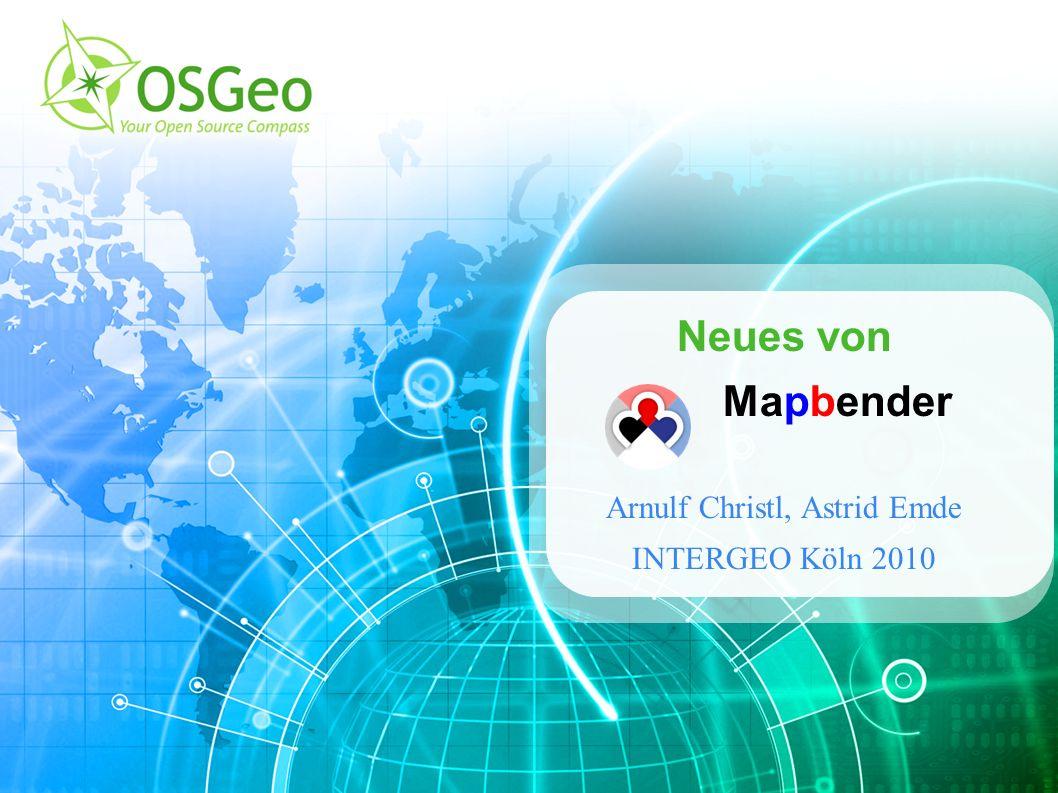 Mapbender – OSGeo Park INTERGEO Köln 2010 32 Vielen Dank für Ihre Aufmerksamkeit.