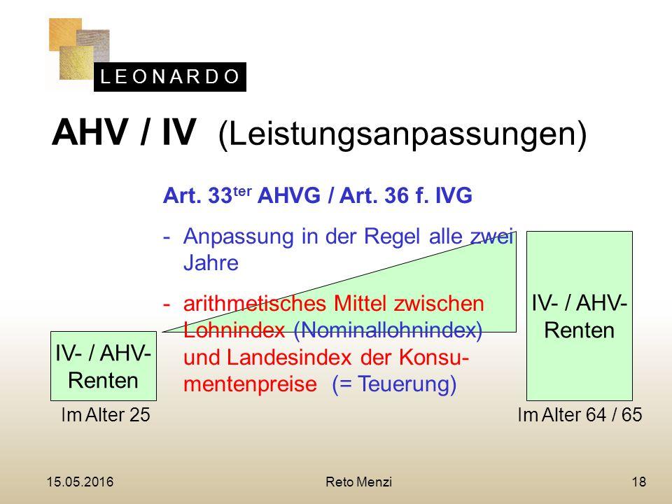 L E O N A R D O 18 IV- / AHV- Renten IV- / AHV- Renten Art.