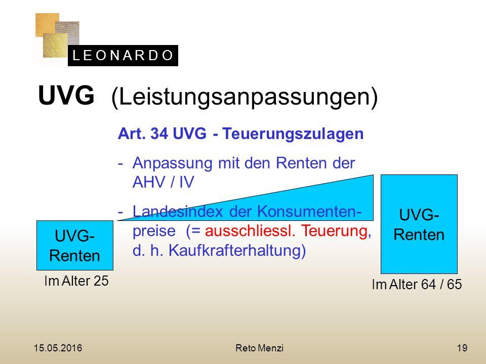 L E O N A R D O 19 UVG- Renten UVG- Renten Art.