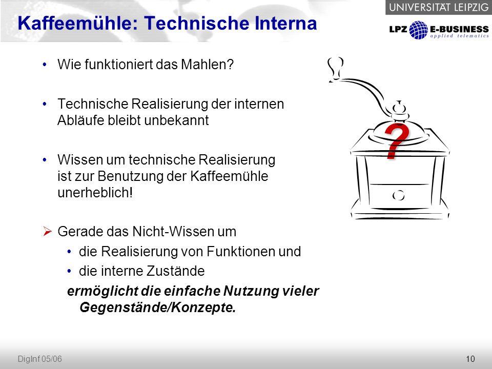 10 DigInf 05/06 Kaffeemühle: Technische Interna Wie funktioniert das Mahlen.