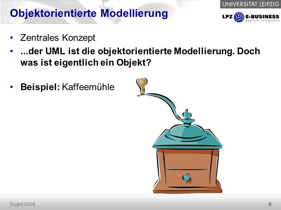7 DigInf 05/06 Kaffeemühle: Funktionen Kaffeebohnen einfüllen kurbeln = Bohnen zu Pulver mahlen Kaffeepulver entnehmen
