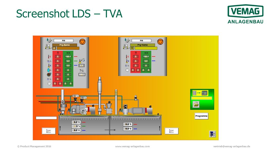 © Product Management 2016www.vemag-anlagenbau.comvertrieb@vemag-anlagenbau.de Screenshot LDS – TVA