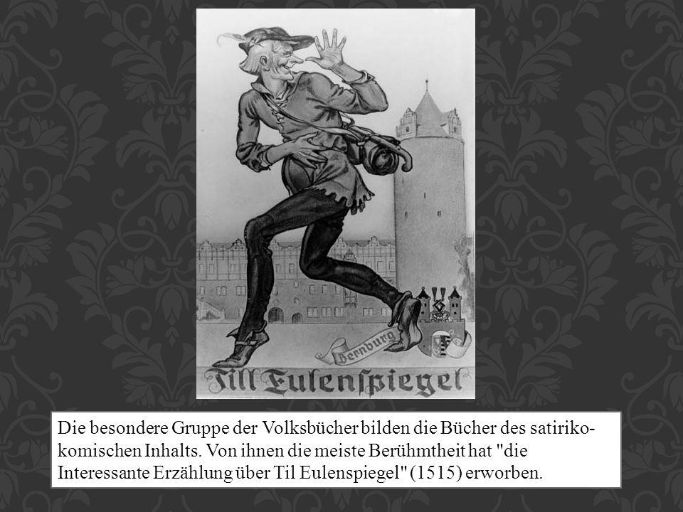 Til Eulenspiegel wohnte in Deutschland im XIV.Jh.