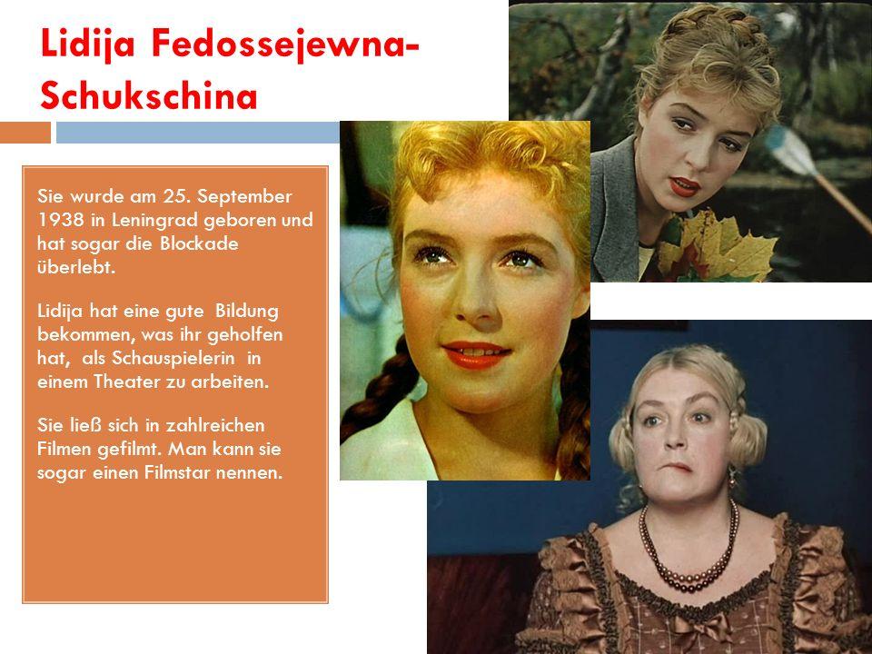 Maria Schukschina Sie wurde am 27.Mai 1967 in Moskau geboren.