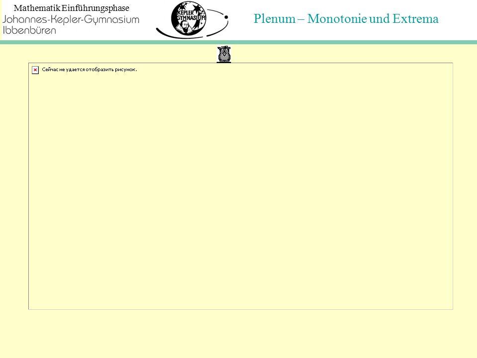 Plenum – Monotonie und Extrema Mathematik Einführungsphase