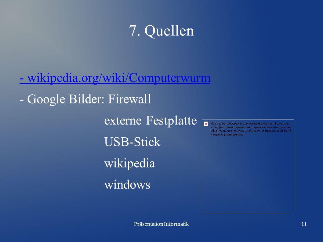 Präsentation Informatik11 7.