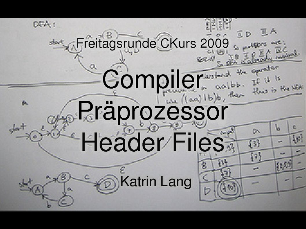 42 #include bar.h #include baz.h ...Problem: Mehrfachinklusion Datei foo.h #include baz.h ...