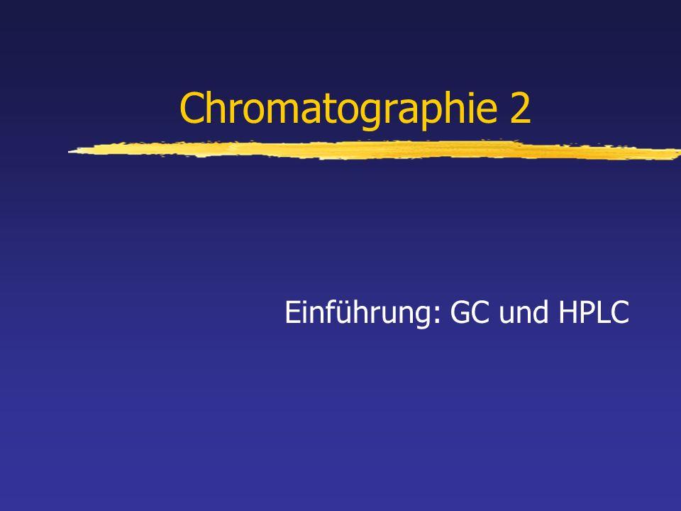 Chromatographie 2 Einführung: GC und HPLC