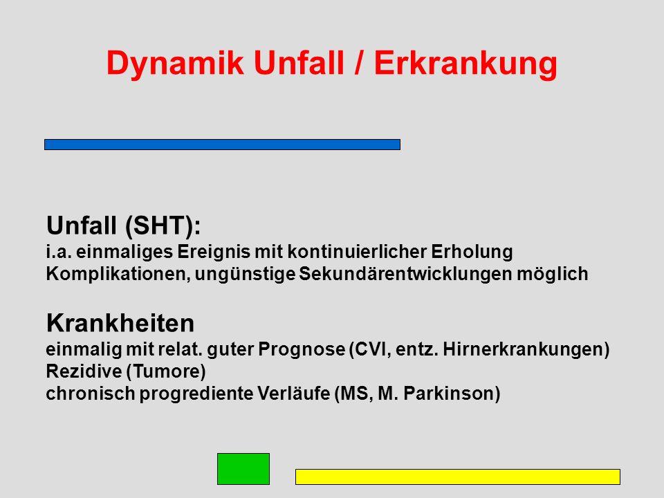 Dynamik Unfall / Erkrankung Unfall (SHT): i.a.