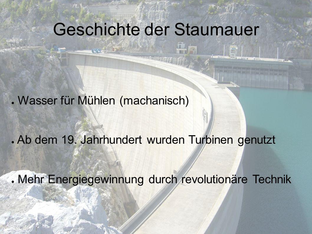 ● Wasser für Mühlen (machanisch) ● Ab dem 19.