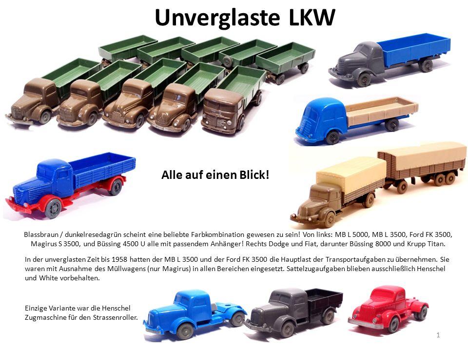 Unverglaste LKW Blassbraun / dunkelresedagrün scheint eine beliebte Farbkombination gewesen zu sein.