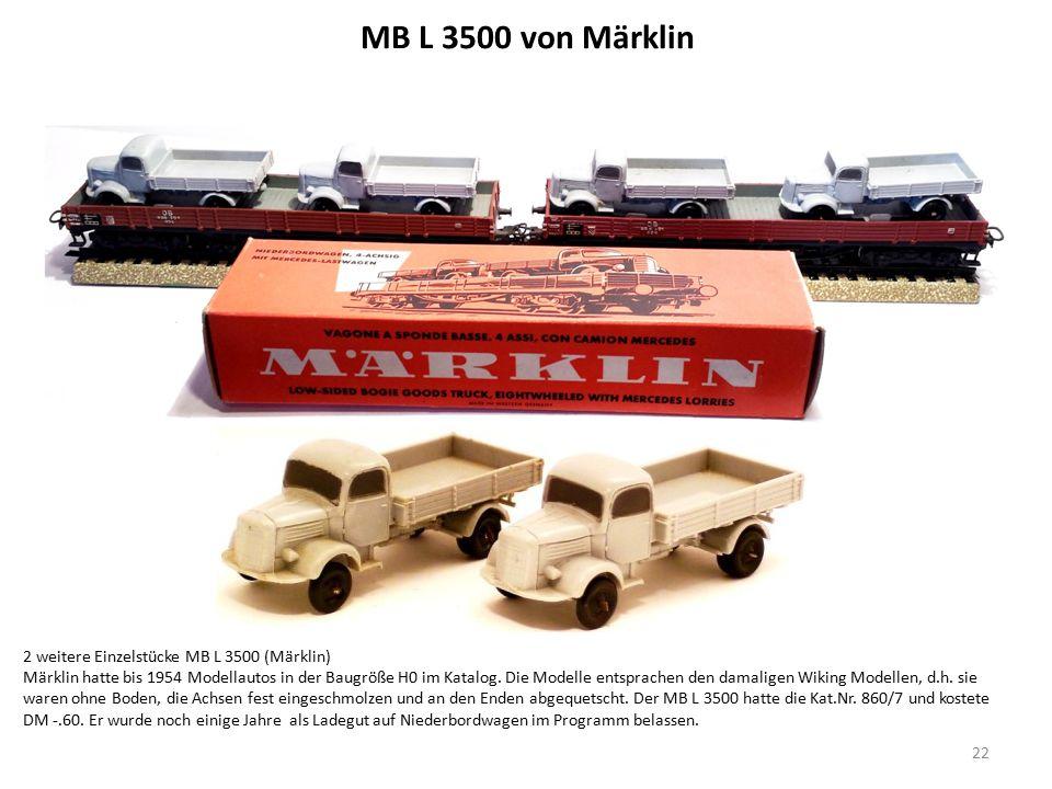 Niederbordwagen mit 2 MB Lastwagen (Märklin 1956 Kat.Nr.
