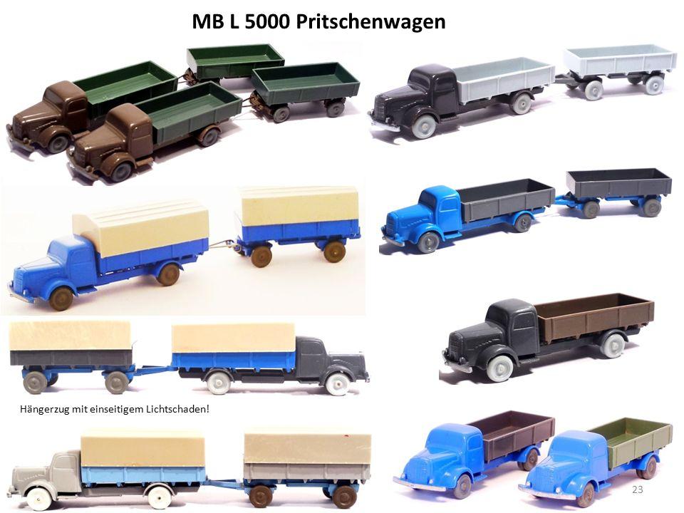 MB L 5000 Pritschenwagen 23 Hängerzug mit einseitigem Lichtschaden!