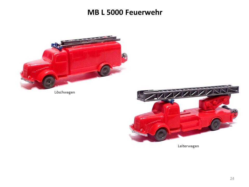 MB L 5000 Feuerwehr 24 Löschwagen Leiterwagen