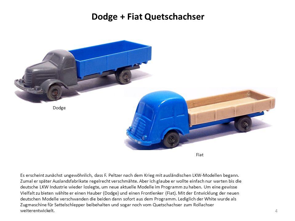 Dodge + Fiat Quetschachser 4 Es erscheint zunächst ungewöhnlich, dass F.