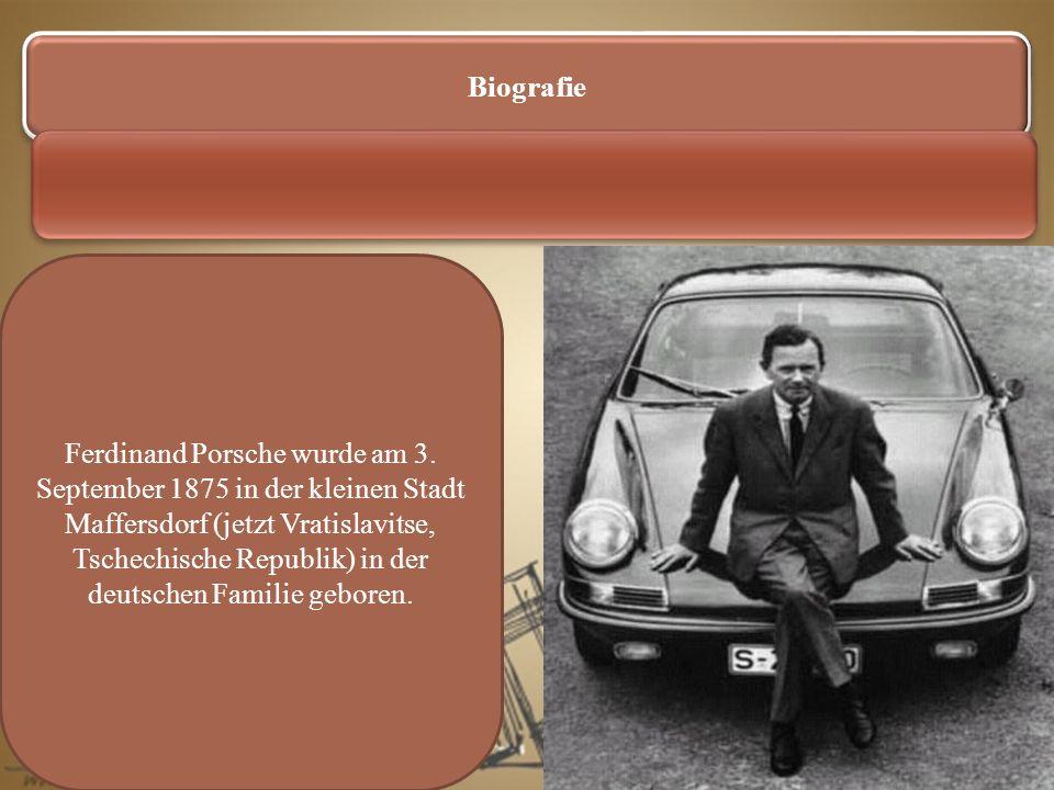 Die Nachkriegszeit Zur Nachkriegszeit hat er die sportlichen Autos Porsche nach dem Volkswagensart geschaffen