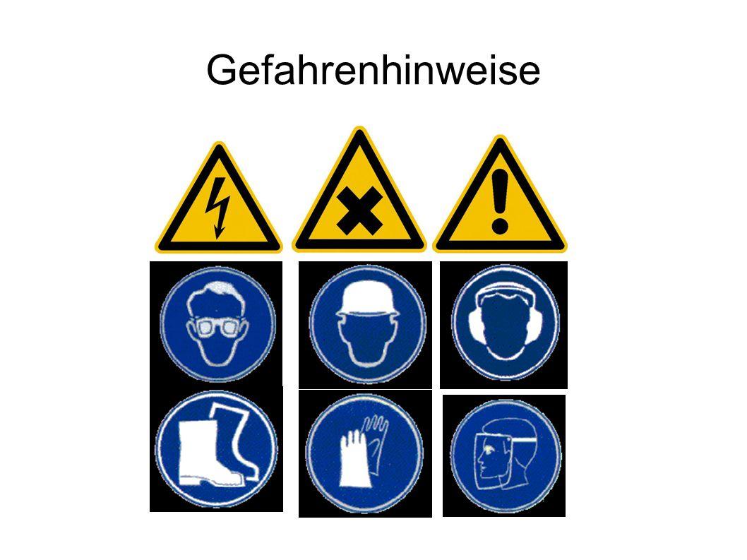 Gefahrenhinweise