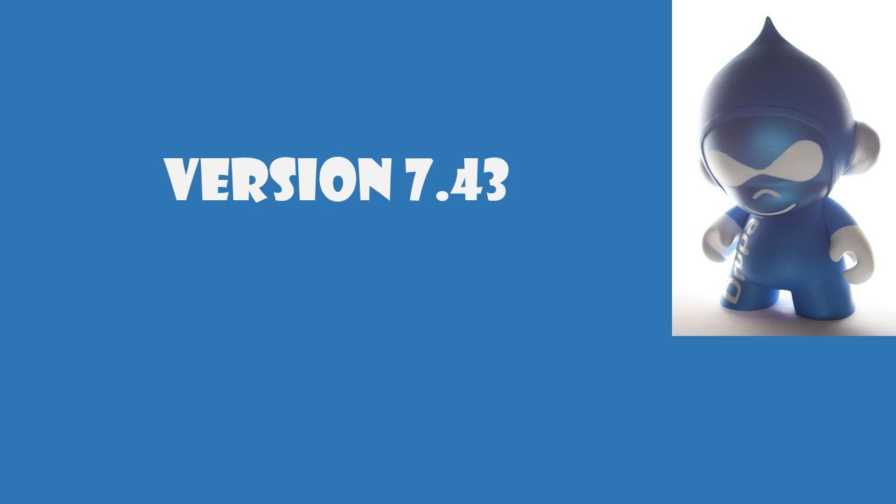 1. Download Version 7.43