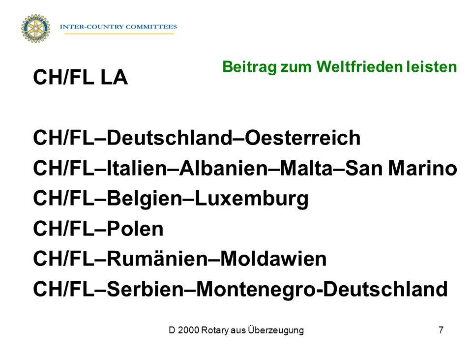 D 2000 Rotary aus Überzeugung7 CH/FL LA CH/FL–Deutschland–Oesterreich CH/FL–Italien–Albanien–Malta–San Marino CH/FL–Belgien–Luxemburg CH/FL–Polen CH/F