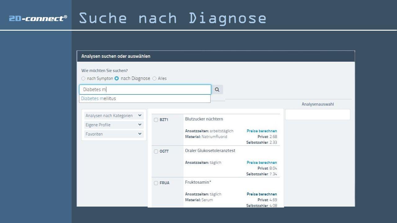 Suche nach Diagnose