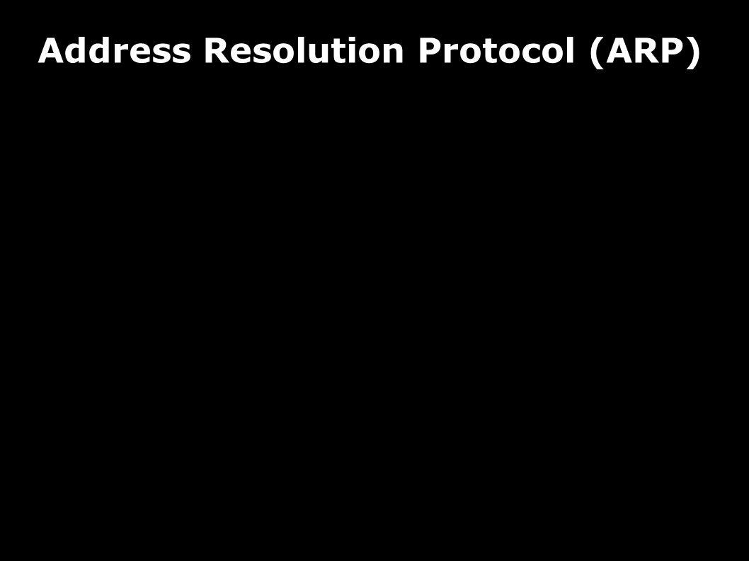 Address Resolution Protocol (ARP) Verwendung Zuordnung von Netzwerkadressen zu Hardwareadressen Beispiel Ethernet Auflösung der IP-Adresse zur Ethernet-MAC-Adresse im lokalen Netzwerk IP-Implementierung kannfeststellen, ob IP-Paket in lokales Netz zugestelltwerden soll oder nicht  lokal: Ermittlung der HW-Adresse des Zielhosts  nicht-lokal:Ermittlung der HW-Adresse eines lokalen Routers