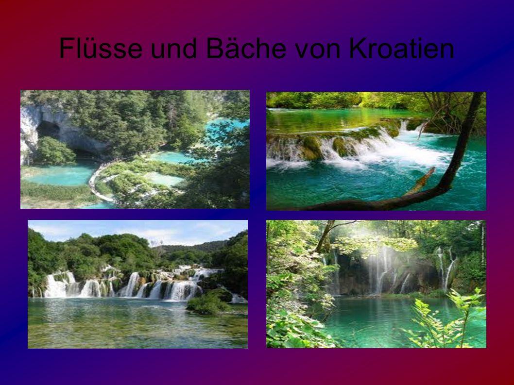 Flüsse und Bäche von Kroatien