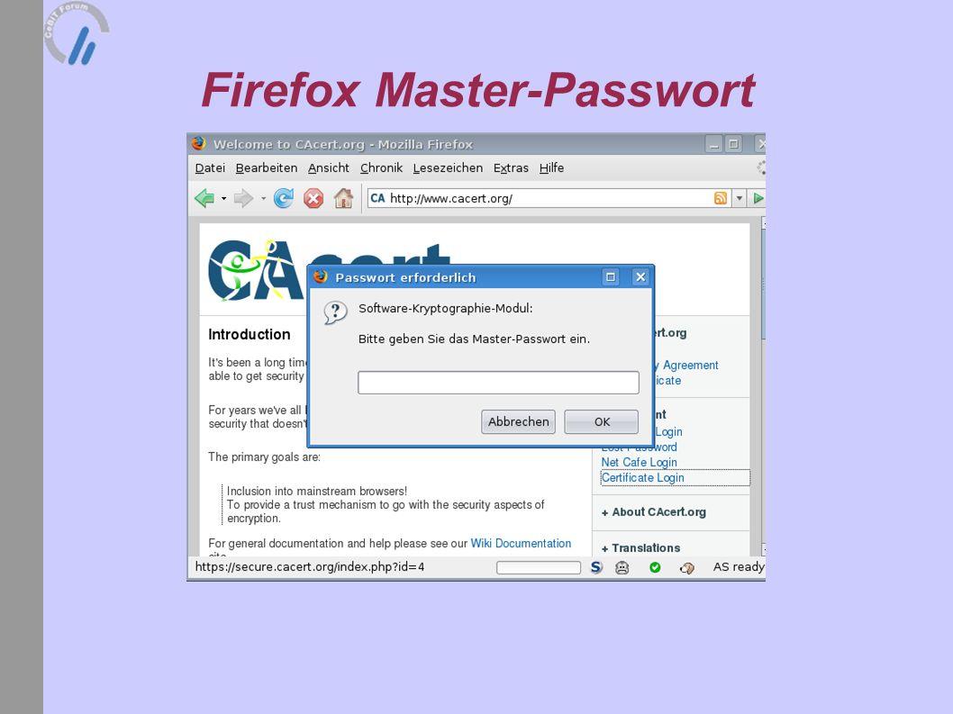 Firefox Master-Passwort