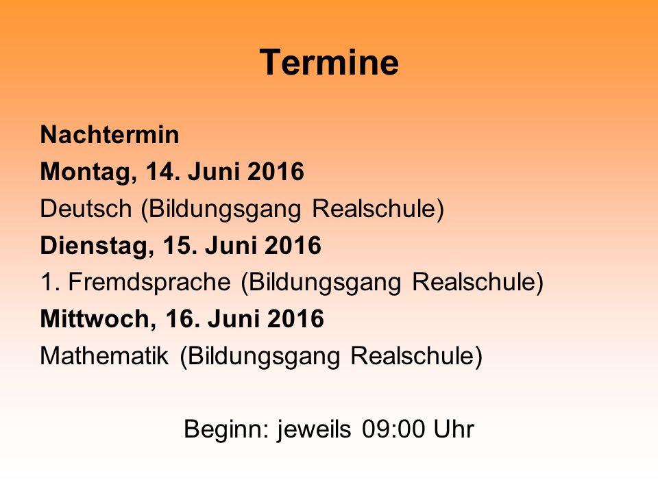 Termine 07. – 18. März 2015 Prüfung Hausarbeit mit Präsentation