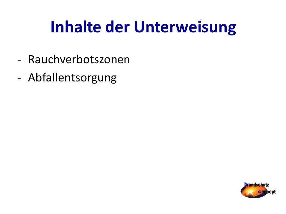 Betrieblicher Brandschutz Brandschutzordnung Teil B Besondere Verhaltensregeln Betriebsspezifische Maßnahmen, z.B.