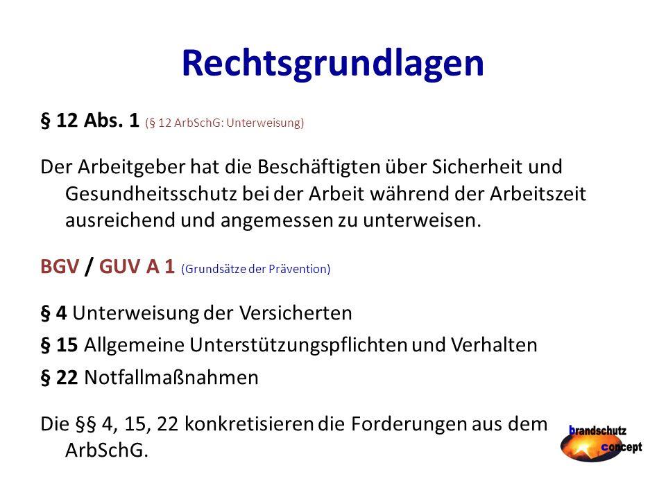 Rechtsgrundlagen § 12 Abs.