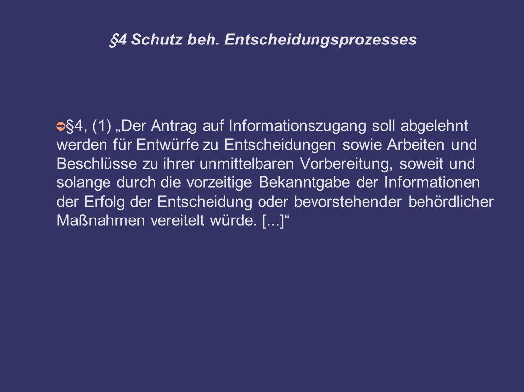 §4 Schutz beh.