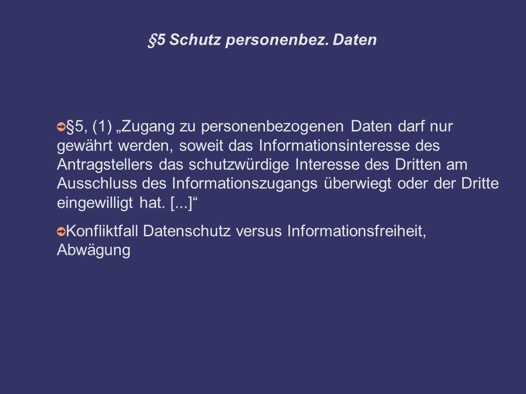 §5 Schutz personenbez.