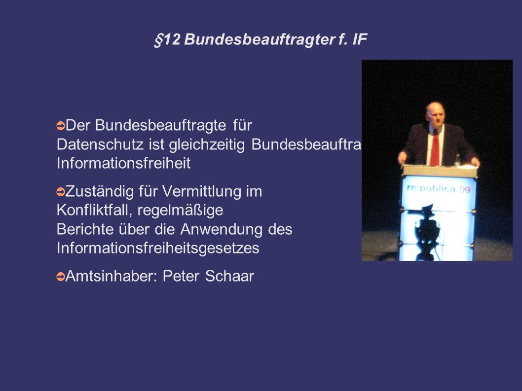 §12 Bundesbeauftragter f.